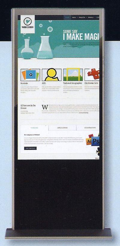 totem numérique - totem publicitaire avec grande dalle Lcd