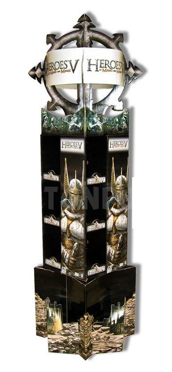 colonne carton - totem publicitaire avec affichage latéraux et couronne sommitale